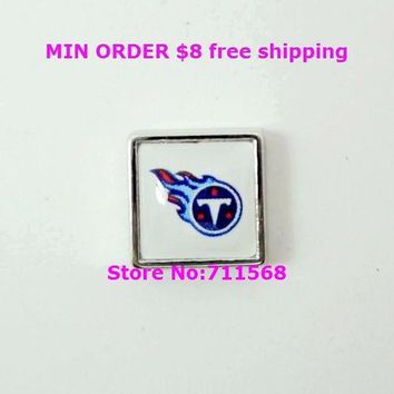 Tennessee Titans Floating Charms National Football League Charm For Memory Glass Locket Accessories