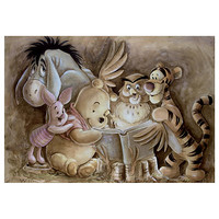 ''Pooh and Company'' Winnie the Pooh Giclée by Darren Wilson
