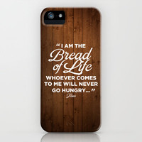 John 6:35 - Bread of Life iPhone & iPod Case by Pocket Fuel