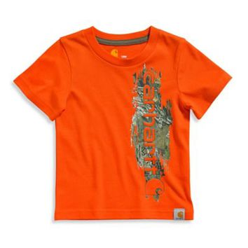 Carhartt® Realtree Xtra® Vertical Camo Graphic T-Shirt in Orange