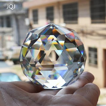 JQJ Quartz Crystal Glass Faceted Ball natural stones and minerals Feng Shui Crystals Balls miniature Figurine Kristal Products