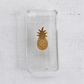 Pineapple iPhone 4 Case iPhone 4s Pineapple Smartphone Case Unique Gold Retro Case for iPhone 4 4s Covers Chic and Modern Design 22kt Plated