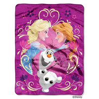 Disney Frozen Happy Family  Micro Raschel Blanket (46in x 60in)