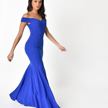 Royal Blue Sexy Mermaid Long Dress