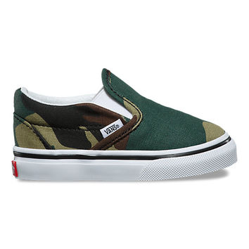 Toddler Woodland Camo Slip-On | Shop At Vans