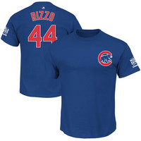 Anthony Rizzo Chicago Cubs Majestic 2016 World Series Champions Name & Number T-Shirt - Royal