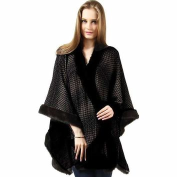 Fur Trimmed Cape