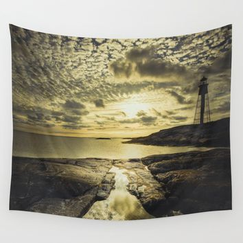 Good night sweet sun Wall Tapestry by HappyMelvin