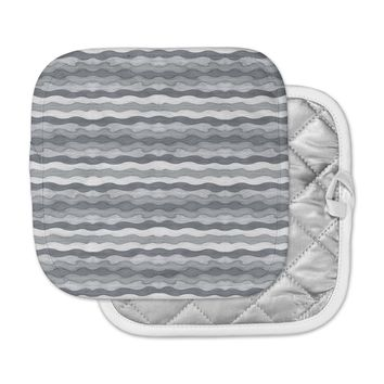 "Empire Ruhl ""51 Shades of Gray"" Gray White Pot Holder"