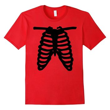 SKELETON SHIRT | Halloween Costume Rib cage Anatomy T-Shirt
