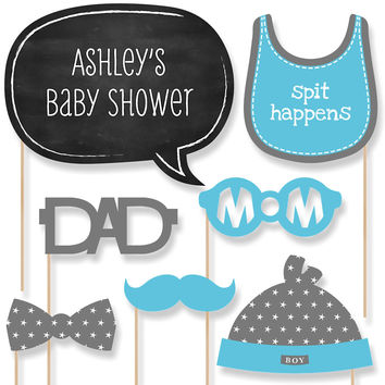 Baby Shower Photo Booth Props Kit - Baby Boy