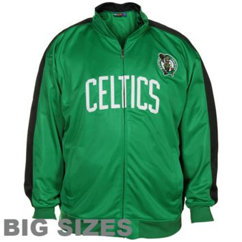 Majestic Boston Celtics Kelly Green-Black Big Sizes Full Zip Track Jacket