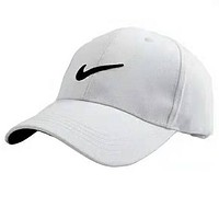 NIKE Tide brand embroidery classic logo men and women casual cap baseball cap white