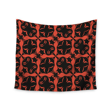 "Miranda Mol ""Oval Orange Love"" Wall Tapestry"