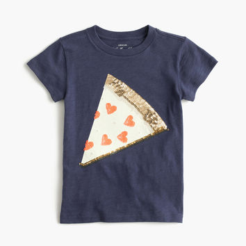 Girls' sequin pizza T-shirt : Girl short-sleeve t-shirts | J.Crew