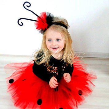 ladybird costume – birthday girl tutu – baby tutu – tutu costume – tutu set – halloween – birthday tutu –  wings – headband  – tutu skirt