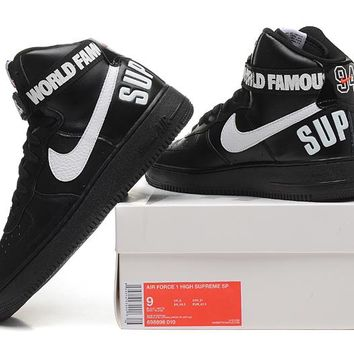 Originals Nike AIR FORCE One 1 HIGH SUPREME SP AF1 HI Running Sp 064b1d148375
