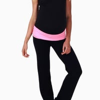 Pink-Waistband-Maternity-Yoga-Pants