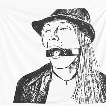 'Vector art, ring, ring, ring... gagged, kinky erotic' Wall Tapestry by casemiroarts