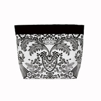 Car Headrest Caddy ~ Black Toile Oilcloth