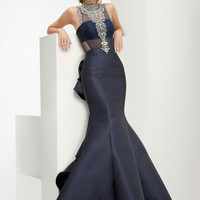 Jasz Couture 5935 High Neck Prom Dress