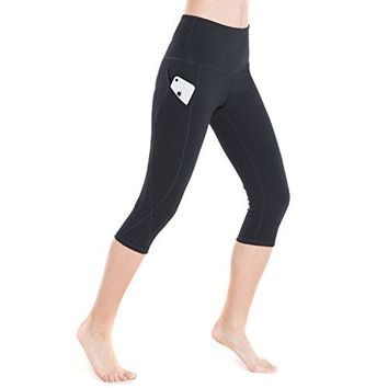 Women's High Waist Yoga Pants Tummy Control 4 Way Stretch Running Pants Workout