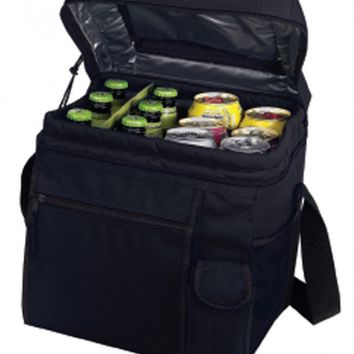 24 Pack Cooler with Easy Top Access and Cell Phone Pocket [Black]