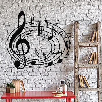 Vinyl Wall Decal Musical Notes Music Art House Interior Stickers Unique Gift (ig4256)