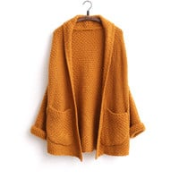 Sweater Knit Winter Jacket [8422525825]
