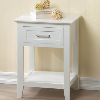 Simple Side Table With Drawer | 3 Color Finishes