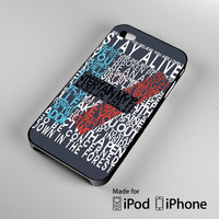 Twenty One Pilots 21 Pilots Lyrics A0787 iPhone 4S 5S 5C 6 6Plus, iPod 4 5, LG G2 G3, Sony Z2 Case