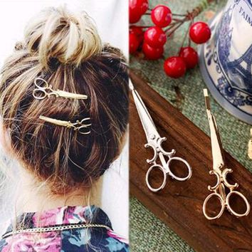 TOMTOSH 1 pc Popular Women Lady Girls Scissors Shape Barrette Hair Clip Hairpin Hair Accessories Decorations Free shipping