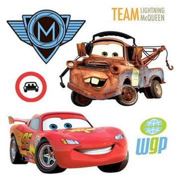 26pc Disney's Cars 2 McQueen Accent Decal Wall Stickers