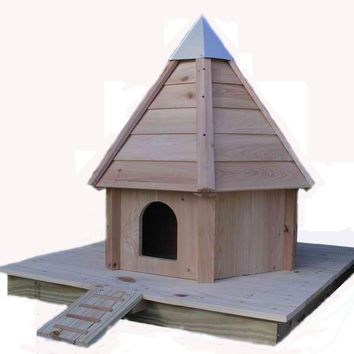 Cypress Wood Floating Duck House