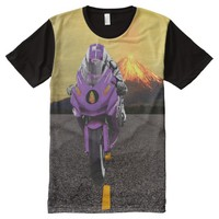 moto volcano All-Over Printed T-Shirt All-Over Print T-shirt