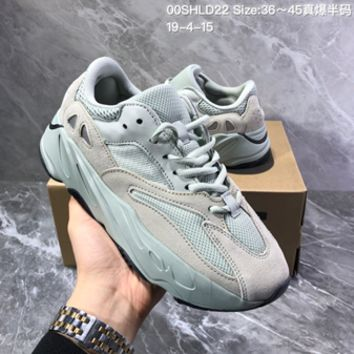 HCXX 19July 241 Adidas YEEZY boost OG 700 SALT Casual Suede Mesh Running Shoes Fashion Sneakers