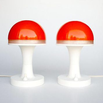 Mid Century Modern Atomic Mushroom Desk Lamp By Thecuriouscaseshop