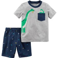 2-Piece Dinosaur Top & Short Set
