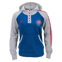 adidas Chicago Cubs Double Hitter Hoodie - Girls