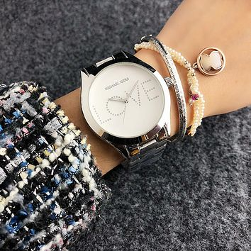 Michael Kors MK Woman Men Fashion Quartz Movement Simple Wristwatch Watch