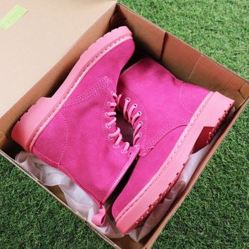 Sale Dr. Martens Modern Classics 1460 Scrub Rose Red Boots