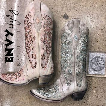 Corral Boots Glitter Inlay and Crystals