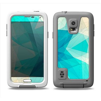 The Vector Abstract Shaped Blue Overlay V2 Samsung Galaxy S5 LifeProof Fre Case Skin Set