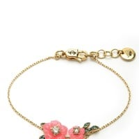 Gold Hibiscus Flower Wish Bracelet by Juicy Couture, O/S