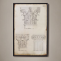 19th C. Elevations of Classical Columns