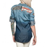 SPEAK OUT LOUD LS WOVEN - Button-Downs - Tops - Womens