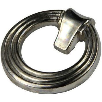 "Silverline B0008 Round Door Knocker Bail Pull Drop CC: 5-1/2"" Cabinet Hardware"