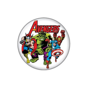 Avengers Vintage Comic Button
