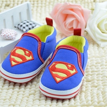 Superman Cute Baby Comfortable canvas Soft Sole Shoes Lovely Cartoon Infant Toddler Kid Infant First Walkers Shoes Kid = 1945877316