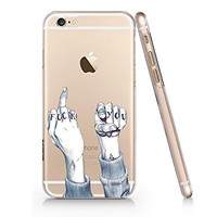 """Fuck You"" Quotes Slim Iphone 6 6S Case, Text Clear Iphone 6 6S Hard Cover Case For Apple Iphone 6/6S -Emerishop (NPT062.6sl)"